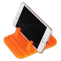 Силиконовый держатель для телефона в машину, оранжевый