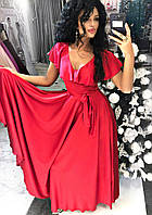 Нарядное длинное платье, клещевого покроя Пояс тканевый Ткань: шёлк Армани много цветов дпог№187-25