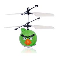 """Летающая игрушка """"Angry birds"""" зеленый + пульт управления"""