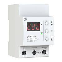 Реле напряжения ZUBR D63t с термозащитой, 63ампер, гарантия 60 месяцев