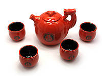 """Сервиз чайный керамический """"Дракон"""" (чайник и 4 чашки)"""