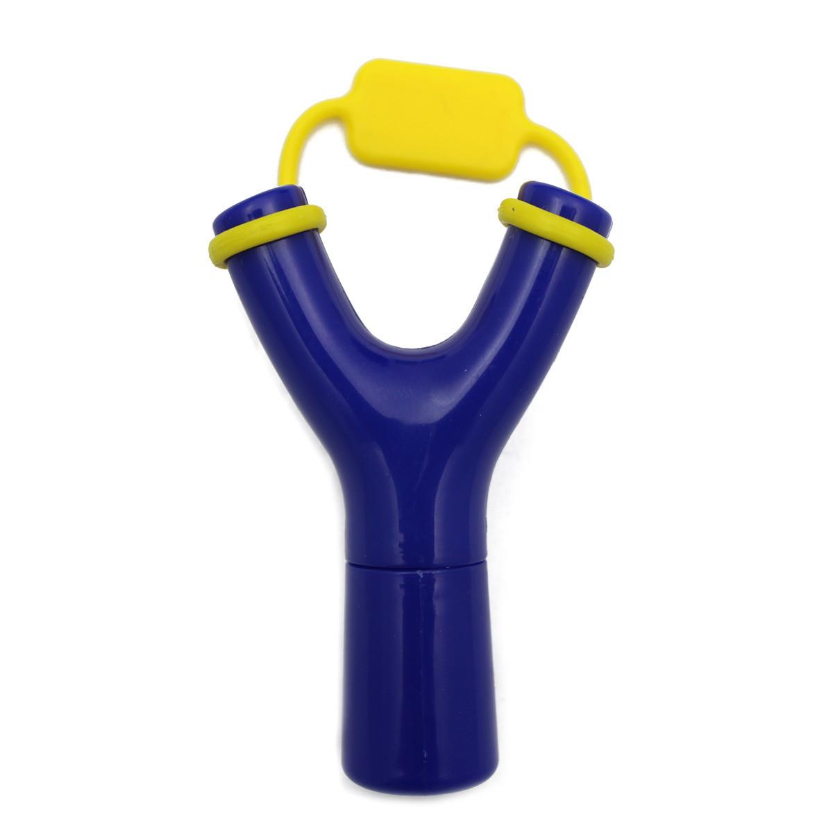 Рогатка для наушников синяя