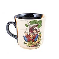 """Чашка детская """"Гном""""  бело-коричневая с деколью (4)"""