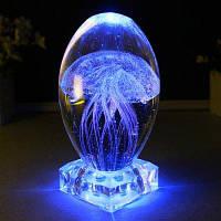 Музыкальная Шкатулка Медузы Декоративные Ночь Свет Подарков основание кристалла