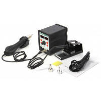 HUAYU H898+700W 2 в 1 паяльная станция с термофеном Чёрный