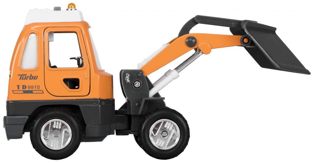 Классная детская металлическая машинка Goki Снегоочиститель 12107G-6