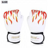 Suteng 1 пара PU кожаный боксерские перчатки Белый