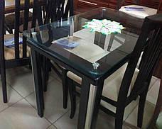 Стеклянный стол на кухню  Гелиос Антоник, цвет на выбор, фото 2