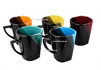 """Чашка """"Квадратная"""" капля Черно-голубая, цена за упаковку 6 шт."""