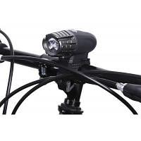 Водонепроницаемый LED-фонарик для велосипеда заряжаемый через USB Чёрный
