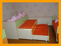Кроватка детская 3-х ярусная, «Матрёшка»