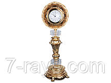 Часы настольные 55 см. из латуни и стекла Franco&C