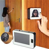 Умный цифровой глазок в дверь 4.3 дюймов Белый