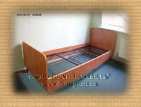Кровать 1-но спальная на металлическом каркасе стандарт, фото 1