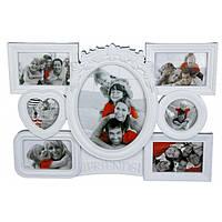 "Фоторамка 7 фото ""Friends"" белая, Белый, Пластик, Коллаж из 7-х фото"