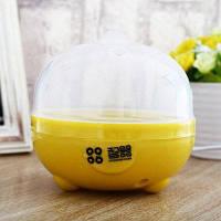 Практичный мини электрический котел для яиц белый и желтый