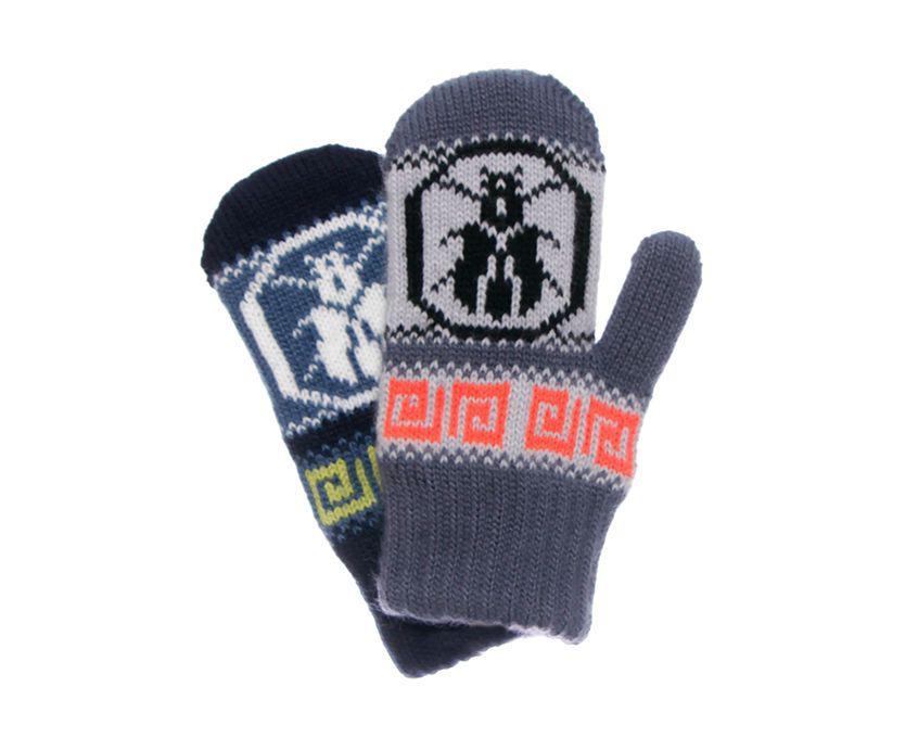 Детские теплые красивые вязанные рукавички для мальчика.