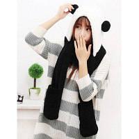 Три в одном Зимние плисовые перчатки шапка и шарф для женщин От XS to M