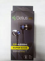 HF Gelius Pro GP-A200Hi Black with mic + button call answering