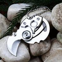 5Cr13Mov мини нож карманный клинок из нержавеющей стали Серебристый