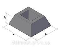 ПЛИТЫ ЗАБОРА СЕКЦИОННОГО И СТАКАН ФУНДАМЕНТА плита П6Ва-1,  стакан Э-5, плита П5-ВК, стакан ФС-1
