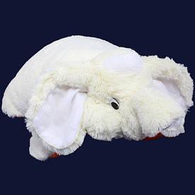 Подушка игрушка - Слон 55 см (55*50*15 см) белый