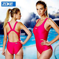 ZOKE женские купальники чистого цвета с U-образным вырезом 2XL