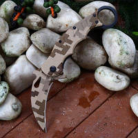 Карманный нож с лезвием из нержавеющей стали 3Cr13Mov Коричневый