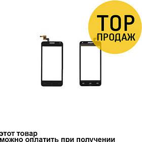 Сенсорный экран для мобильного телефона Bravis Alpha, черный (131*63 мм)