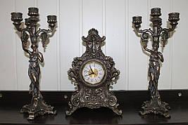 Каминный набор Veronese Мгновения, часы и 2 подсвечника