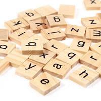 100шт деревянные строчные буквы Настольная игра Абрикосовый