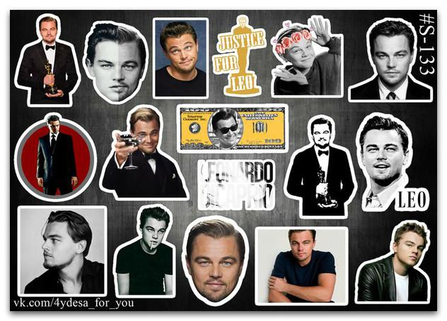 Stickers Pack Leonardo Dicaprio, Леонардо Дикаприо #133