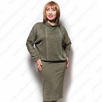 Женское платье большого размера с напуском