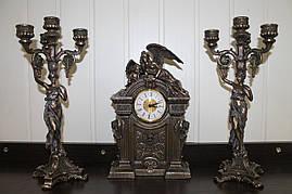Каминный набор Veronese Херувимы, часы и 2 подсвечника