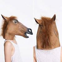 Творческая Голова Маска Хэллоуина В Виде Лошадя Для Косплея Коричневый