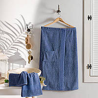 Килт для сауны с полотенцем Arya Sante синий