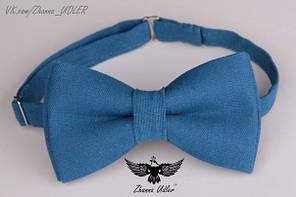 Галстук-бабочка синяя волна