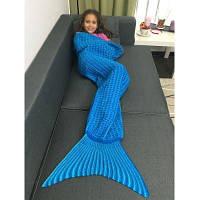 Вязаное одеяло для детей Синий