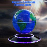 Магнитной Левитации Плавающий Глобус Карта Мира Синий