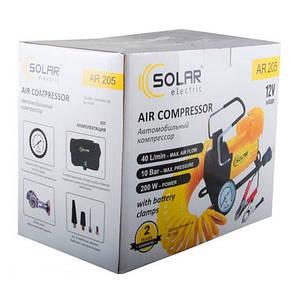 Автокомпрессор SOLAR AR205,насос электрический автомобильный,компрессор для подкачки шин поршневой, фото 3