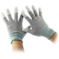 Перчатки из углеродного волокна с антистатическим PU покрытием 2шт Серый