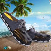 Летняя мужская дышащая Воздух-сетки обувь для досуга мужские пляжные сандалии 41