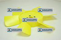 Вентилятор 3302, 2705, 2217 6 лопастей желтый Украина ГАЗ-2217 (Соболь) (3302-1308010)