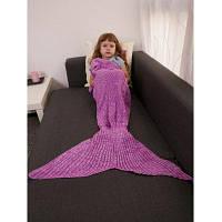 Держите Теплый Вязание Вязание хвост русалки Стиль Одеяло Пурпурный