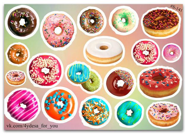 Stickers Pack Пончики #141