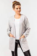 Кофта женская серая с карманами