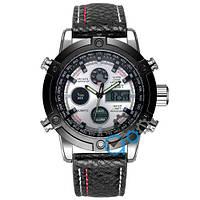 Часы мужские AMST 3022 Silver-Black-Silver Fluted Wristband