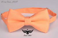 Галстук-бабочка апельсиновый лен, фото 1