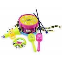 Мини красочные игрушки музыкальный инструмент веселая и безопасная игра (песок молоток / колокол / барабана / молоток / Рог) Цветной