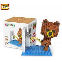 LOZ 350 шт 9430 Конструктор фигуры коричневого медведя в туалете для совместной детской игры Цветной